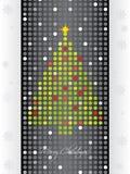 Gestippelde Kerstmiskaart Stock Afbeeldingen