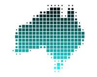 Gestippelde vectorkaart van Australië Stock Foto's