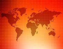 Gestippelde Wereld royalty-vrije illustratie