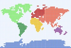 Gestippelde wereldkaart stock illustratie