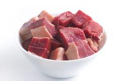 Gestoßenes Rindfleisch Brasilianer Carne-seca in einer Schüssel Stockbild