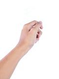 Gesto da mão que dá algo Imagens de Stock