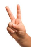 Gesto da vitória ou de mão da paz Fotos de Stock