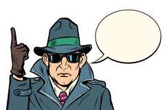 Gesto de la atención del espía libre illustration