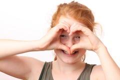 Gesto de la forma del corazón Imagen de archivo libre de regalías