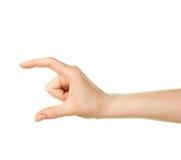 Gesto de mão caucasiano fêmea isolado Fotografia de Stock