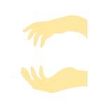 Gesto de mão de duas fêmeas ilustração stock