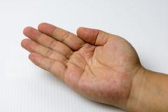 Gesto de mão do homem Foto de Stock Royalty Free