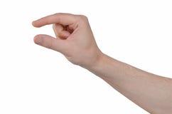 Gesto de mão - dois dedos que guardam algo Imagem de Stock Royalty Free