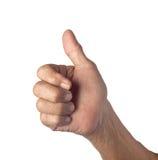 Gesto de mão que indica o bom trabalho de uma pessoa superior Foto de Stock