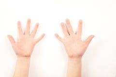 Gesto de mano del niño Foto de archivo