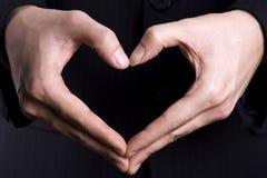 Gesto del cuore Fotografia Stock
