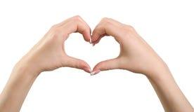 Gesto del cuore. Fotografia Stock Libera da Diritti