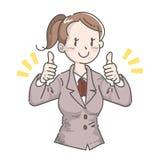 Gesto della donna di affari - buona illustrazione vettoriale