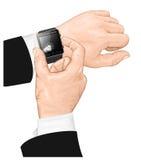 Gesto elegante del reloj. Foto de archivo libre de regalías