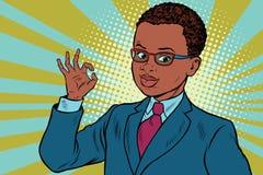 Gesto GIUSTO del ragazzo royalty illustrazione gratis