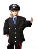 Gesto italiano di arresto del carabiniere Fotografia Stock Libera da Diritti