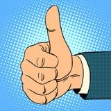 Gesto superior do polegar ilustração royalty free