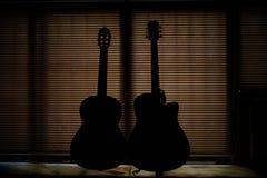 Gesto surpreendente da guitarra Foto de Stock Royalty Free
