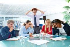 Gesto triste do negativo da expressão da reunião de negócios Imagem de Stock