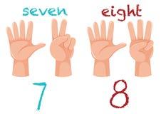 Gesto y número de mano libre illustration