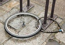 Gestohlenes Fahrrad Stockbild