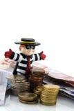 Gestohlenes Geld stockbilder