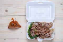 Gestoofd varkensvleesbeen met rijst Royalty-vrije Stock Fotografie