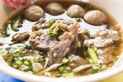 Gestoofde Rundvleessoep - Thaise stijl stock foto's
