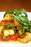 Gestoofde tomaat en gnocchi stock afbeelding