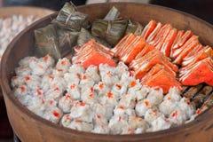 Gestoomd Chinees voedsel Stock Foto