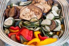 Gestoomde groenten Stock Afbeelding