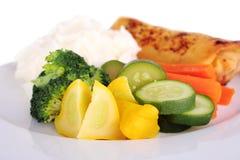 Gestoomde groenten Royalty-vrije Stock Afbeelding