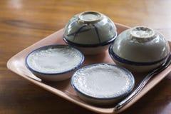 Gestoomde pandanuscake Stock Fotografie