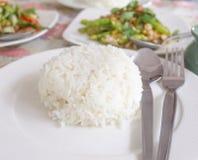 Gestoomde rijst Royalty-vrije Stock Foto's