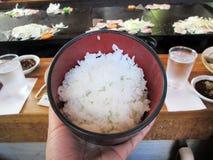 Gestoomde rijst van Japan Stock Afbeeldingen
