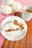 Gestoomde varkensvleesbroodjes, Chinees dim sum Stock Afbeelding