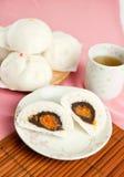 Gestoomde varkensvleesbroodjes, Chinees dim sum Royalty-vrije Stock Foto