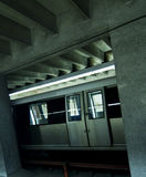 Gestoppte Untertageserie in der Station Lizenzfreies Stockfoto