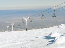 Gestoppter Skiaufzug im Frost Lizenzfreie Stockfotografie