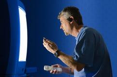 Gestopt in & uit gestemd - technologieoverdosis Stock Fotografie