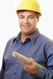 Gestor de projecto do gerente da construção Foto de Stock Royalty Free