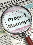 Gestor de projeto Job Vacancy 3d Imagem de Stock
