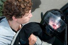 Gestorbener Kraftfahrer Lizenzfreie Stockfotografie