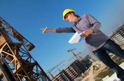Gestore della costruzione Fotografia Stock Libera da Diritti