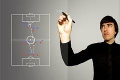 Gestore di gioco del calcio di calcio - contro attacco fotografie stock libere da diritti
