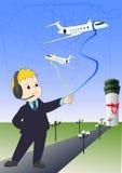 Gestore di linea aerea Illustrazione Vettoriale