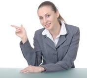 Gestore di ufficio (operaio dello scrittorio di ricezione) fotografia stock