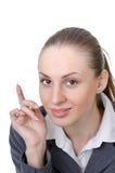 Gestore di ufficio (operaio dello scrittorio di ricezione) immagini stock