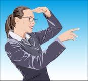 Gestore di ufficio (operaio dello scrittorio di ricezione) illustrazione di stock